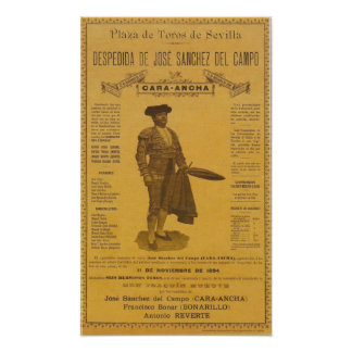 Cartel para la despedida del torero Bull Fighter Print