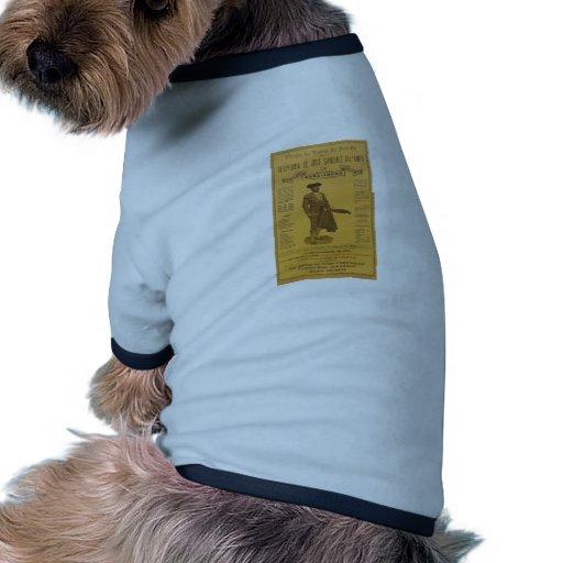 Cártel para la despedida del torero - Sevilla Camiseta Con Mangas Para Perro