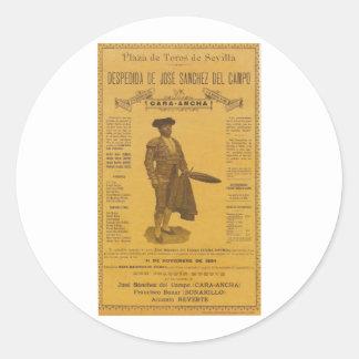 Cartel para la despedida del torero - Seville Sticker