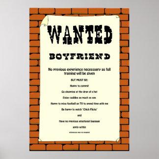 "Cartel querido ""novio"" póster"