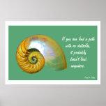 Cartel Quote.3 inspirado de Shell del nautilus A06 Poster