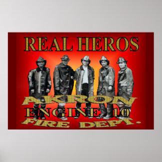 Cartel real de los héroes póster