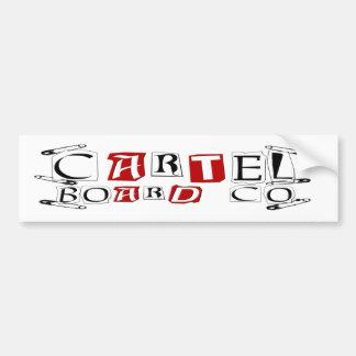 Cartel safety Sticker Car Bumper Sticker