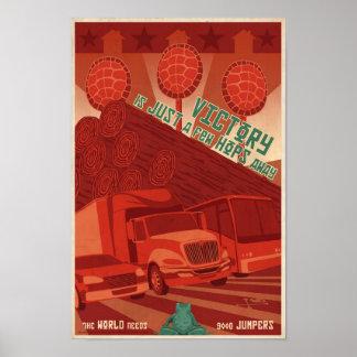 Cartel tercer de la propaganda del juego de arcada póster