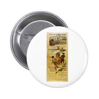 Cartel Toros Barcelona - Bullfighting Matador Pinback Button