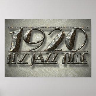 Cartelera 1920 del vintage de la música del estilo póster