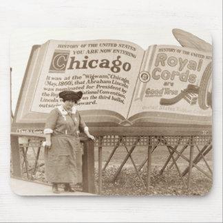 Cartelera de Chicago del vintage Tapete De Raton