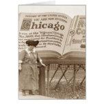 Cartelera de Chicago del vintage Tarjetón