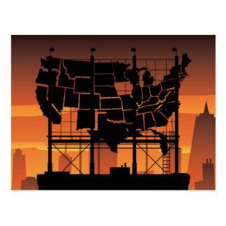 Cartelera de los E.E.U.U. Postales