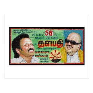 Cartelera del cumpleaños del político de la India Tarjetas Postales