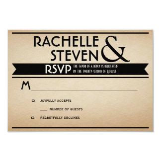 Cartelera que casa RSVP Invitación 8,9 X 12,7 Cm