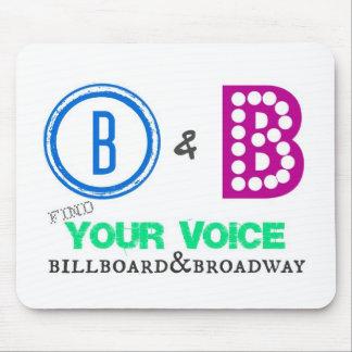 Cartelera y línea de productos de Broadway Alfombrillas De Ratones