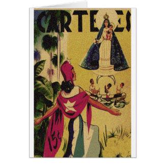 CARTELES VINTAGE MAGAZINE GREETING CARD