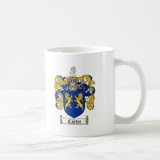CARTER FAMILY CREST -  CARTER COAT OF ARMS COFFEE MUG