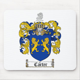 CARTER FAMILY CREST -  CARTER COAT OF ARMS MOUSE PAD