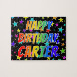 "[ Thumbnail: ""Carter"" First Name, Fun ""Happy Birthday"" Jigsaw Puzzle ]"