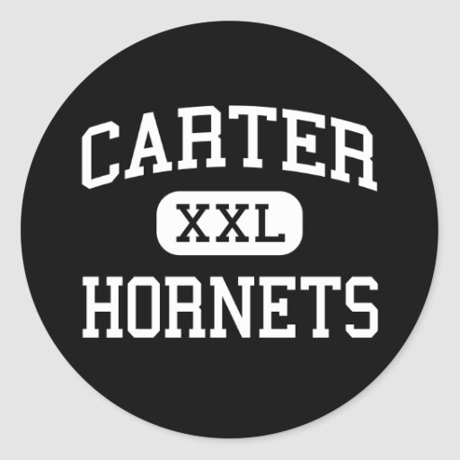 carter - hornets - high - Knoxville Tennessee Round Stickers