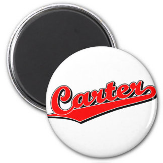 Carter in red 2 inch round magnet