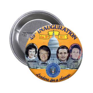 Carter Inauguration double jugate - Button