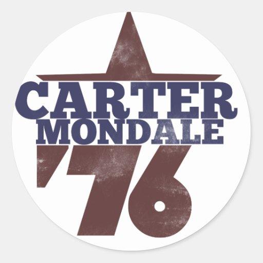 Carter Mondale 1976 Round Sticker