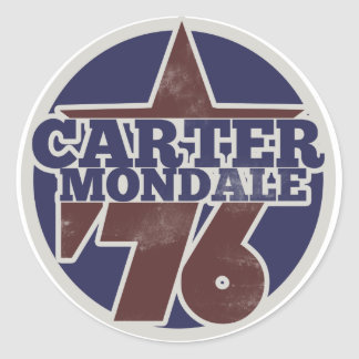 Carter Mondale 76 Classic Round Sticker