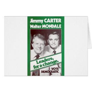 Carter - Mondale Card