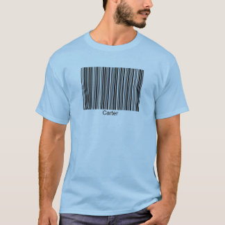 Carter Personalized Functional Barcode Tee