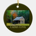 Carter Shields Cabin - Cades Cove - Christmas Christmas Ornaments
