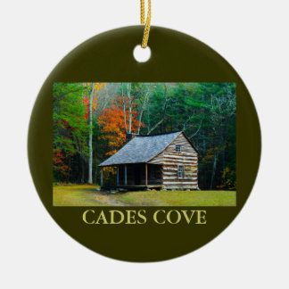 Carter Shields Cabin - Cades Cove - Christmas Christmas Ornaments