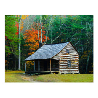 Carter Shields Cabin - Great Smoky Mountains Post Card
