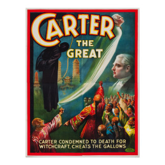 Carter the Great Cheating the Gallows Poster