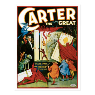 Carter The Great ~ Do The Dead Materialize? Post Card