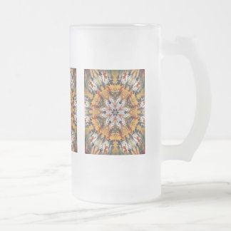 Carter the Great Kaleidoscope Frosted Glass Beer Mug