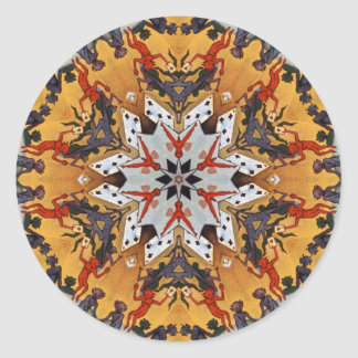 Carter the Great Kaleidoscope Round Sticker