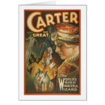 Carter the Great - The World's Weird Wizard Greeting Cards