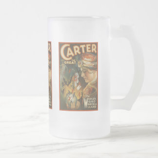 Carter the Great - The World's Weird Wizard Frosted Glass Beer Mug