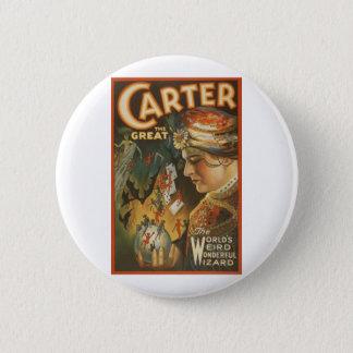 Carter the Great - The World's Weird Wizard Pinback Button