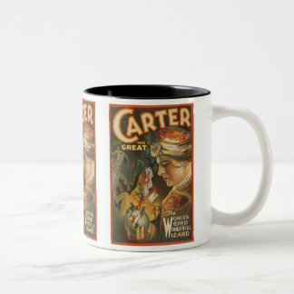 Carter the Great - The World's Weird Wizard Two-Tone Coffee Mug