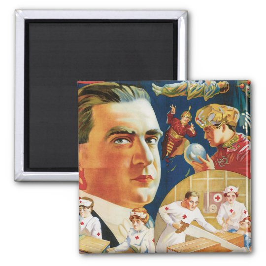 Carter The Great Vintage Magician Advertisement Magnet