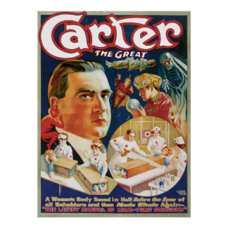 Carter The Great Vintage Magician Advertisement Print