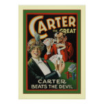 Carter The Great ~ Vintage Magician Poster