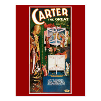 Carter The Great ~ Weird Wizard Vintage Magic Act Post Card