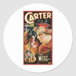 Carter The Great ~ Wizard Vintage Magic Act Sticker