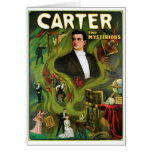Carter The Mysterious ~  Vintage Magic Act Greeting Cards