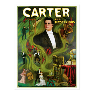 Carter The Mysterious ~  Vintage Magic Act Postcard