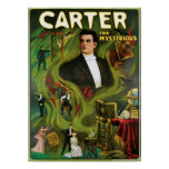 Carter The Mysterious ~  Vintage Magic Act Print