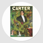 Carter The Mysterious ~  Vintage Magic Act Stickers