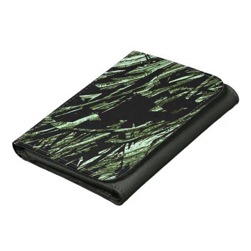 Cartera abstracta de Camo del negro y del verde ca