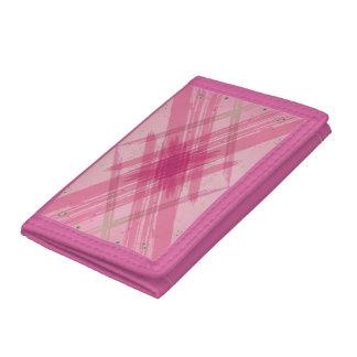 Cartera abstracta rosada