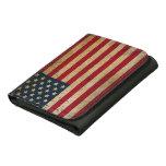 Cartera apenada de la bandera americana